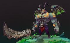 Demon Swordsman, Matt B on ArtStation at https://www.artstation.com/artwork/demon-swordsman-513d316a-1d6c-48fa-a485-62e9d6d80070