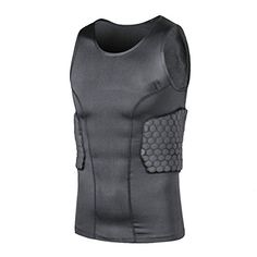 ff0eb734 Amazon.com : TUOY Men's Protective Gear Hip Padded Football Protection  Sleeveless Shirt : Sports & Outdoors