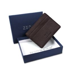 10 Colour Ultra-thin Card Holder Mini wallets small Genuine Leather purse real leather Card Case With 4 Slots Fashion Style New -- You can find more details by visiting the image link.