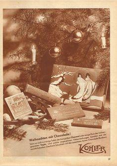Chocolat Kohler Werbung 1931 Swiss Chocolate, Vintage Ads, Ice Cream, Movies, Movie Posters, Art, Advertising, No Churn Ice Cream, Art Background