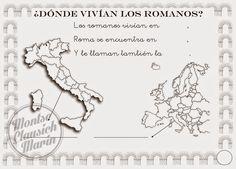 PINCELADAS EN COLOR: febrero 2015 Ancient Rome, Social Studies, Presentation, Projects To Try, Education, History, Montessori, World, Amor