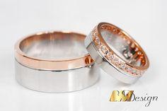 Obrączki ślubne na zamówienie z białego i różowego złota z diamentami. Wisiorek z opalem i diamentami. Projekt i wykonanie BM Design.  #obrączki #obrączkiślubne #diament #złoto #nazamówienie #złotnik #biżuteria #ręcznierobione #piękny #tęczowy #złoty #Rzeszów #BM #wisiorek #przywieszka