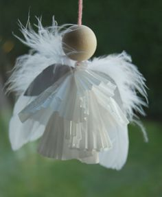LOVE this little feathered Advent Angel