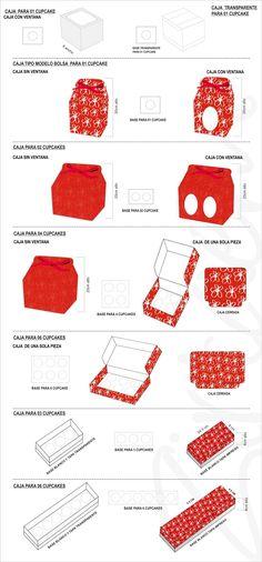 CAJAS Y BOLSAS PERSONALIZADAS: cajas para cupcake