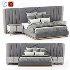 Bedroom Bed Design, Bedroom Furniture Design, Modern Bedroom, Master Bedroom, Luxury Modern Homes, False Ceiling Living Room, Headboards For Beds, Bed Sizes, Home Deco