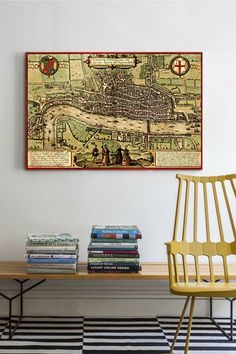 """Antique Map of London, 1572"" by Georg Braun Canvas Print by iCanvasART on @HauteLook"