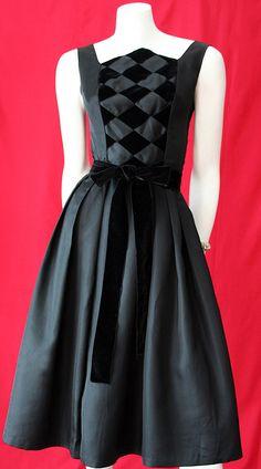 Lovely vintage 1950s little black dress by Candy Jrs.