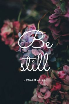 Be still and know that I am God - Psalm 46 :10 #psalm #proverbs #bibleverse #biblestudy
