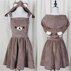 Buy GOGO Girl Detachable Hood Bear Appliqué Jumper Dress at YesStyle.com! Quality products at remarkable prices. FREE WORLDWIDE SHIPPING on orders over US$ 35.