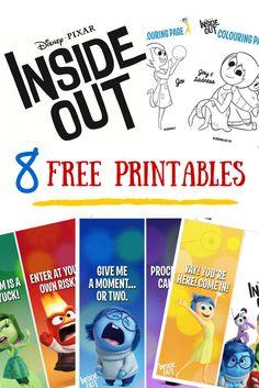 disney pixar inside out printables
