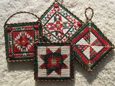 cross stitched ornaments.. Two-Handed Stitcher: It's Ornament-Making Time!