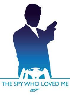 James Bond by Phil Beverley, via Behance