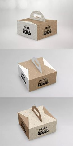 Paper Box Carrier Packaging Mockup