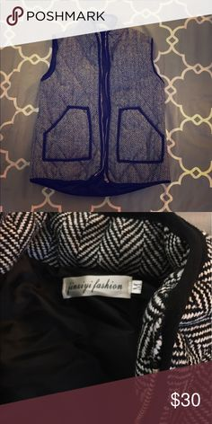 Houndstooth Vest - Jcrew lookalike! Thick and warm, perfect for fall and winter! Jackets & Coats Vests