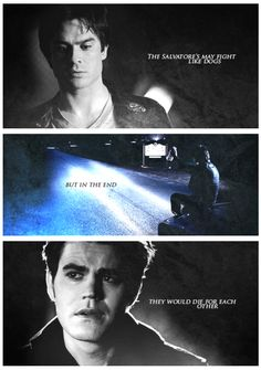 He lost his brother! Stefan and Damon Salvatore on The Vampire Diaries. TVD.