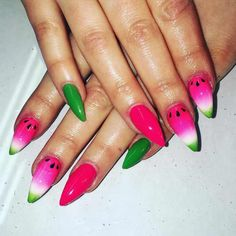 watermelon nail art for 2016 - style you 7 . shweshwe 2017 dresses