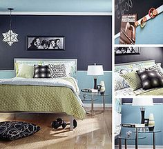 Two-Tone paint ideas - i want to do this for our future bedroom.