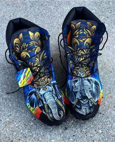 Behind The Scenes By customizerdepot Nike Boots, Timberland Boots, Mens Fashion Shoes, Sneakers Fashion, Luxury Jets, Custom Sneakers, Rubber Rain Boots, Behind The Scenes, Combat Boots