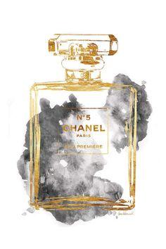 art prints Perfume Bottle, Gold & Grey Canvas Art Print by Amanda Greenwood Chanel Wall Art, Chanel Decor, Grey Canvas Art, Canvas Art Prints, Grey Wall Art, Bild Gold, Chanel Pictures, Perfume Chanel, Chloe Perfume