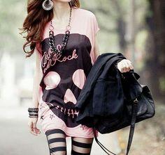 Punk fashion, ulzzang, ulzzang fashion, korean fashion