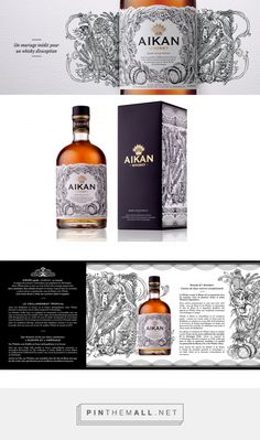Aikan Whisky - Packaging of the World - Creative Package Design Gallery - http://www.packagingoftheworld.com/2018/02/aikan-whisky.html