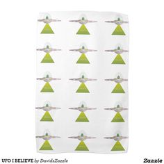 UFO I BELIEVE Hand Towels  Available on more products! Type in the name of this design in the search bar on my Zazzle products page to see them all!  #ufo #alien #space #outer #universe #ship #flying #saucer #little #green #men #conspiracy #theory #cartoon #illustration #funny #drawing #digital #scifi #science #fiction #buy #zazzle #sale #for #sale #hand #towel #kitchen #bathroom #bath #dry #clean