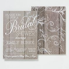 Create lasting Wedding memories with the Rustic Bridal Shower Personalized Invitations. Find the best personalized wedding gifts at PersonalizationMall.com