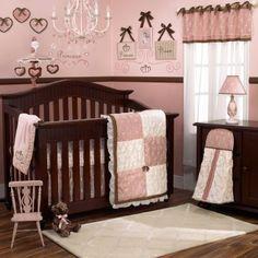 Pink and brown princess nursery.