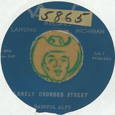 BASHFUL ALFY Lonely Crowded Streets MICHIGAN COUNTRY BOPPER 45 RPM RECORD VG++