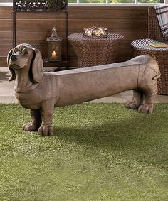 Long Dog Bench by Zingz & Thingz #zulily #zulilyfinds MOM!!! We both need one of these!!!!