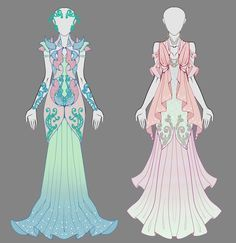 Open dress adopt - auction by onavici. japanese anime an Manga Clothes, Drawing Clothes, Princess Draw, Mode Inspiration, Character Inspiration, Illustration Mode, Illustrations, Anime Outfits, Cool Outfits