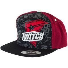 3bf41afd15d09 FSAS Twitch Bolt Snapback Cap black red