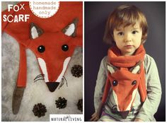 FOX SCARF fox bandana cute and gorgeous for all by NATURALLIVINGpl, zł85.00