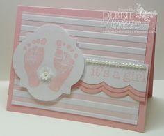 Debbie's Designs: Saturday Simple...a Baby Card!