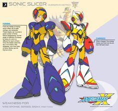Megaman X2 Sonic Slicer-Ver.Ke by Redblaze4080.deviantart.com onq@DeviantArt