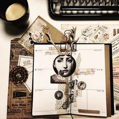 """""""Zeit die wir uns nehmen, ist Zeit, die uns etwas gibt."""" (Ernst Ferstl) ... und dann ist mir auch ganz egal, wie grau das Wetter draußen ist. Lasst es euch gut gehen  - - - - #vintage #travelersnotebook #plannerlove #plannercommunity #washitape #coffee #coffeetime #instagood #scrapbooking #scrapbookingsupplies #journaling"""