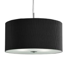 Large 3 Light Black Drum Pendant With Frosted Glass Diffuser Ceiling Chandelier, Black Chandelier, Ceiling Pendant, Ceiling Lights, Lighting Uk, Pendant Lighting, Drum Pendant, Glass Diffuser, Fabric Shades