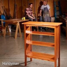 How to Build a Bookcase. Craftsman-style furniture designs are still popular today, and with modern tools you can build a bookcase like this classic from the Stickley catalog in a weekend. Diy Bookshelf Plans, Built In Bookcase, Bookshelves, Bookshelf Design, Bookcase Redo, Wooden Bookcase, Furniture Plans, Diy Furniture, Furniture Design