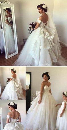 Charming Sweetheart Popular Online Bridal Long Wedding Dress, BG51637 #weddingdress #brides #wedding
