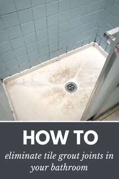 How to eliminate tile grout joints bathroom and shower floor pan – Innovate Building Solutions Nationwide Cleveland Columbus Shower Grout, Tile Grout, Bathroom Floor Tiles, Shower Floor, Shower Base, Diy Shower, Cheap Bathroom Remodel, Cheap Bathrooms, Shower Remodel