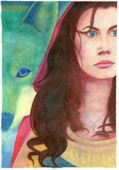 Caperuza Roja y el Lobo por @EvangeCaceres