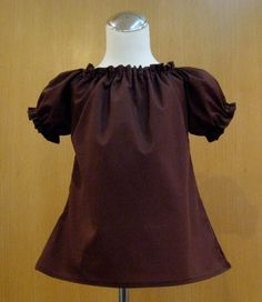 Brown Peasant Top 12M To 7 by FRANCISBEL on Etsy