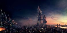 futuristic cities concepts | Concept Art: City Towers - 2D Digital, Concept art, Illustrations ...