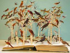 book cut sculpture