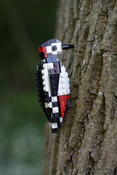 Tropical LEGO Birds by Thomas Poulsom