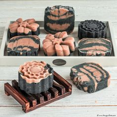 Charcoal red clay soap