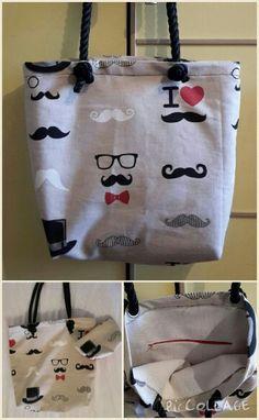 Mustache's bag #mustache #bag #fabrics #tote #borsa #baffi #cute