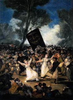 O Enterro da Sardinha - Goya, Francisco e suas pinturas ~ Foi um importante pintor espanhol da fase do Romantismo