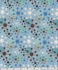 Geometrics, Robert kaufman Fabric, Blue, Brown. $4.50, via Etsy.
