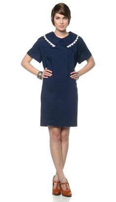 1960s Mod Shift Dress Plus Size 60s Mini Navy Blue and by oldage
